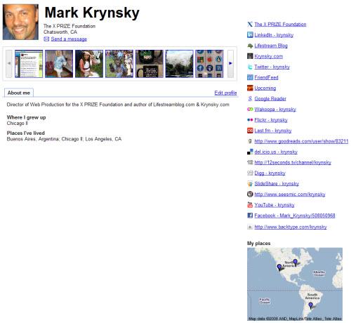 click to see my profile at Google