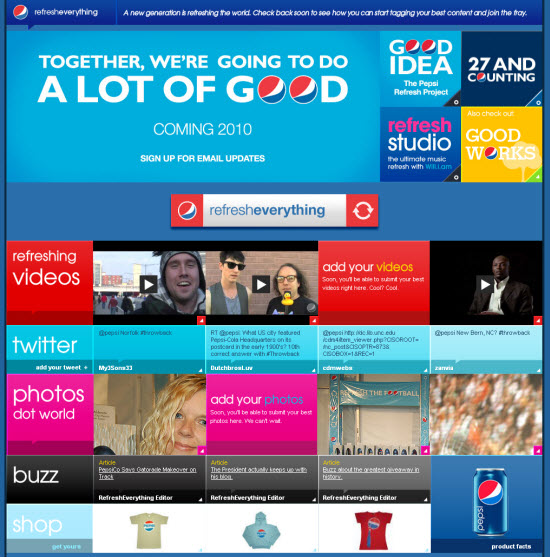Pepsi chose to pour even more money into a social media-do good campaign