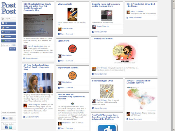Postpost is a Nice Alternative for Viewing Your Facebook Content