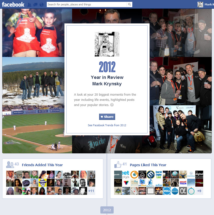 Get a Stream of Your 2012 Facebook and Twitter Highlights