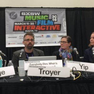 SXSW Panel Discussion on Death and Digital Legacy
