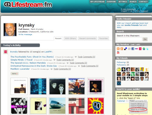 Lifestream.fm Returns from Hybernation. Open to Everyone Again.