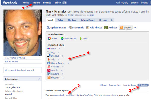 How to Create or Add Your Lifestream to Facebook