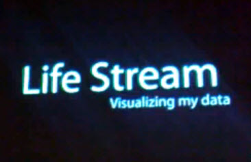 Is this the Future of Lifestreaming Interactions and Data Visualizations?