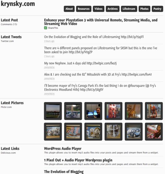 Lifestream WordPress Theme Released by Press 75