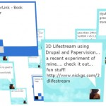 Lifestreaming Goes 3D Courtesy of Drupal and Papervision