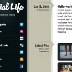 Sneak Peek at Soon to be Released Social Life WordPress Theme