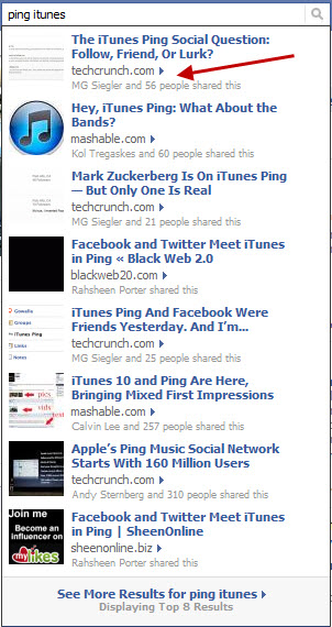 Facebook Now Leveraging Your Friends Likes to Feature Content in Search