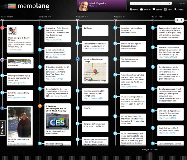 Memolane Brings Beautiful Visuals and UI Along with a Deep Historical Lifestream