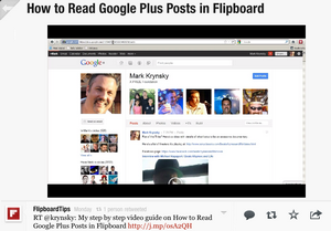 How to Read Google Plus Posts in Flipboard