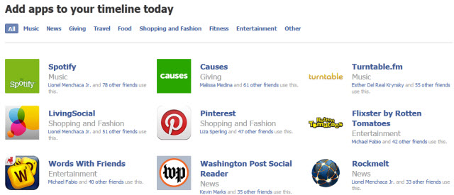 Passive Sharing of Your Lifestream on Facebook Timeline is Here