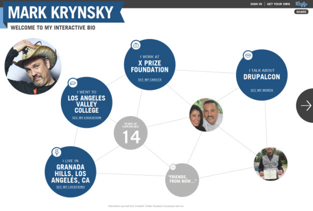 Create an Interactive Bio Infographic Powered by Your Social Data with Vizify
