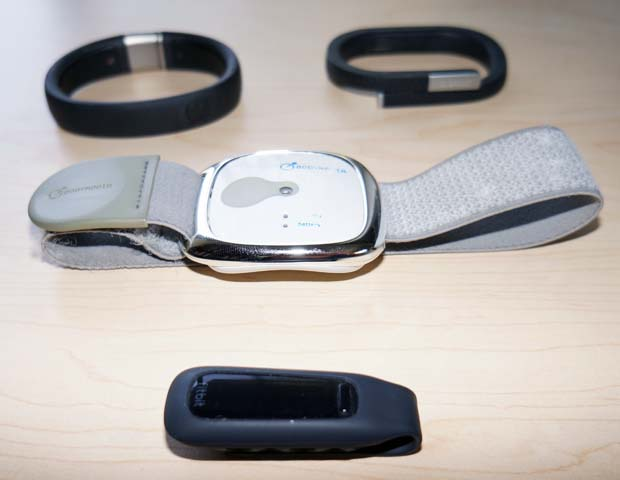 Nike Fuelband, Jawbone Up, Fitbit One, and Bodymedia Armband Comparison Review